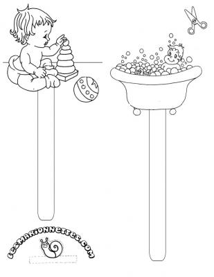 Coloriage Bain Bebe.Les Marionnettes Gratuites Coloriages Decoupages